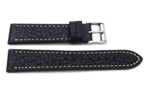 Genuine Leather Textured Roller Buckle Watch Band
