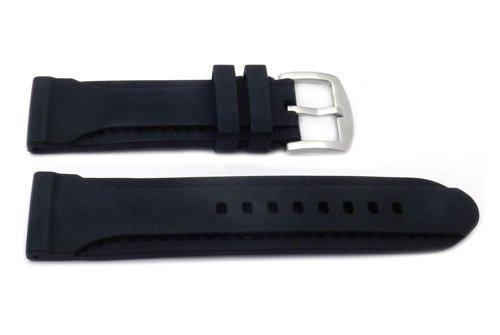 Genuine Silicone Heavy Duty Elevated Stitched 24mm Watch Band