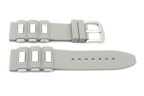 Genuine Silicone Sport Stainless Steel Inserts Style Watch Band