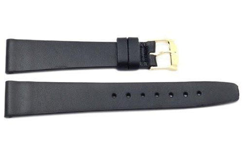 Genuine Movado Black Smooth Leather 18mm Watch Strap
