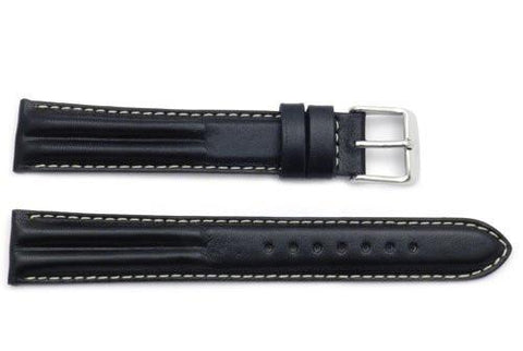 ZRC Genuine Calfskin Leather Waterproof Anti-Allergic Long Watch Band