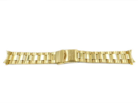 Genuine Invicta 20mm Gold Tone Metal Watch Band