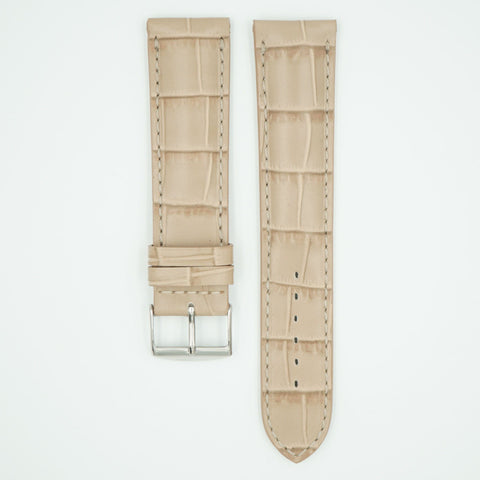 Florence Beige Alligator Grain Leather Watch Band