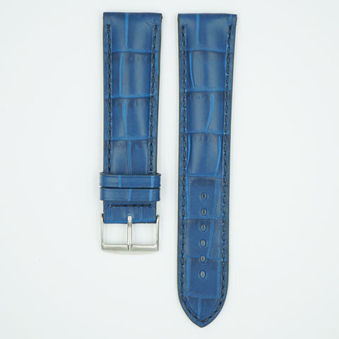 Florence Blue Alligator Grain Leather Watch Band