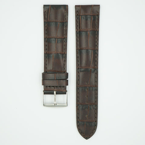 Florence Brown Alligator Grain Leather Watch Band