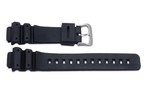Casio Style Black Sports Rubber 16mm Watch Band