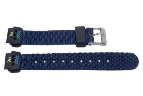 Genuine Nylon Blue 14mm Flat Water Resistant Watch Strap