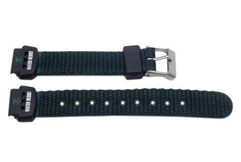 Genuine Nylon Green Flat Water Resistant Watch Band