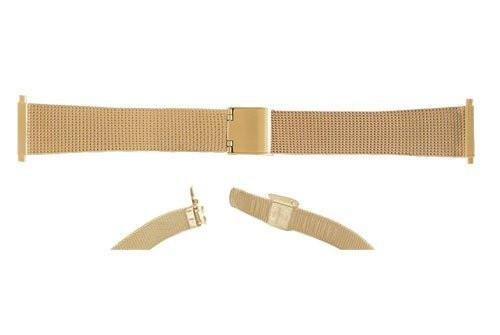 Hadley Roma Gold Tone Fashion Mesh Design Watch Band