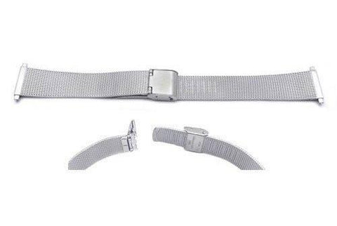 Hadley Roma Stainless Steel Fashion Mesh Design Watch Strap