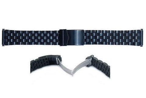 Hadley Roma Black Sport Link Design Watch Bracelet