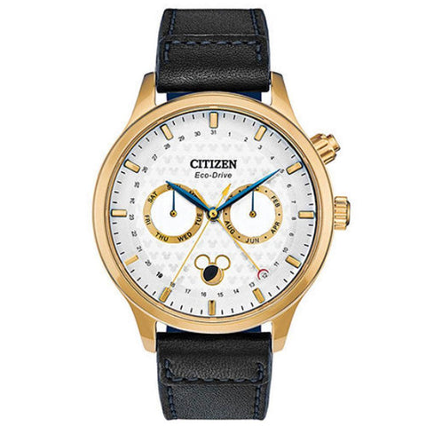 Citizen Men's Disney Mickey Mouse Leather Strap Watch-Ap1058-11w