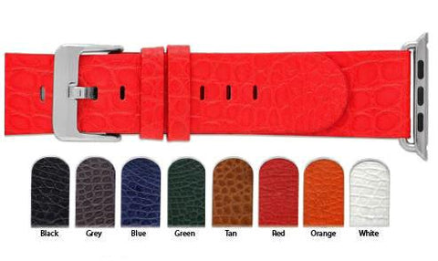 Hadley Roma Apple Compatible Genuine Alligator Watch Strap