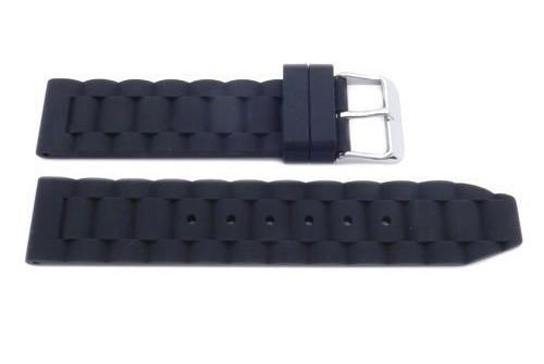 Genuine Silicone Link Style 20mm Replacement Watch Band - Assorted Colors Available image