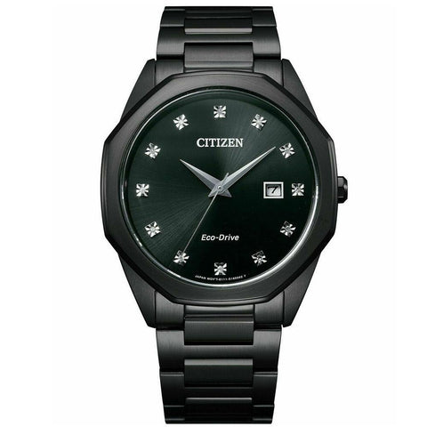 Citizen Men's Eco-Drive BM7495-59G Corso Diamond-Accent Black Watch