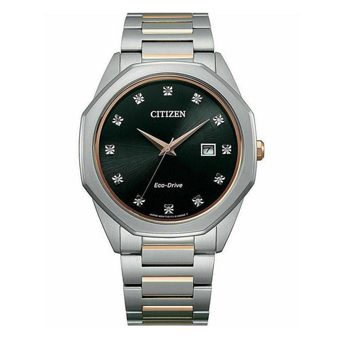 Citizen Eco Drive BM7496-56G Diamond Corso Watch Black Dial