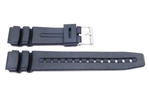Black Casio Style 19mm Watch Band CA-1899