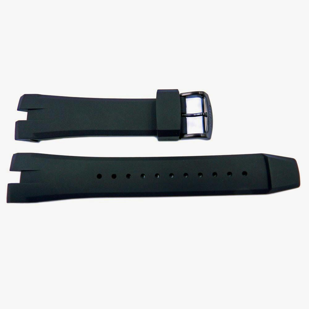 Genuine Citizen Eco Drive Ecosphere Black Rubber 24mm Watch Strap Total Watch Repair 59 S53044