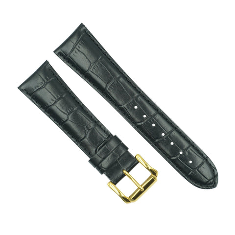 Citizen 22mm Black Leather Watch Strap