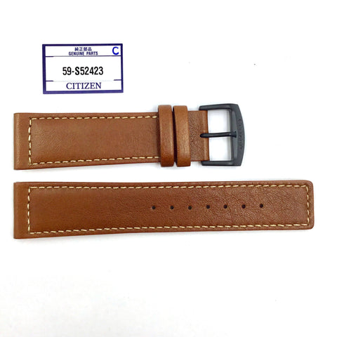 Citizen 59-S52423 Brown Leather Watch Band Strap