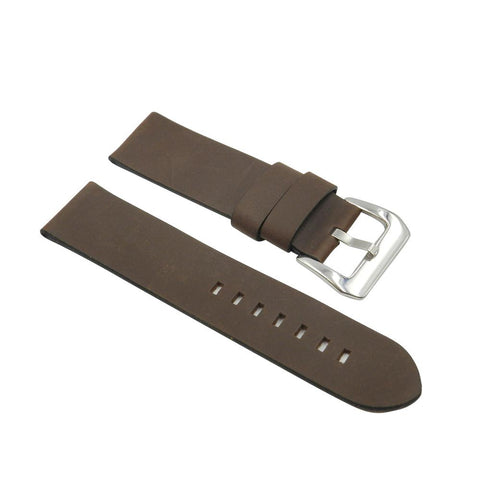 Wide Soft Leather Brown Strap