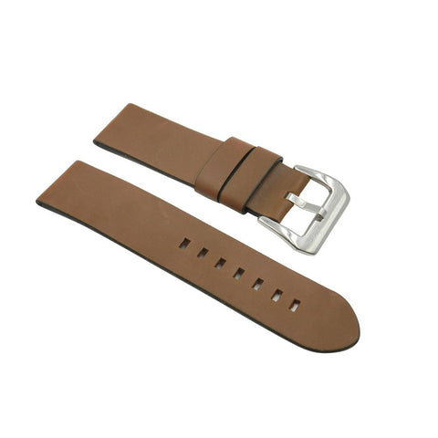 Wide Soft Leather Tan Strap