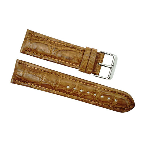 22mm honey alligator strap