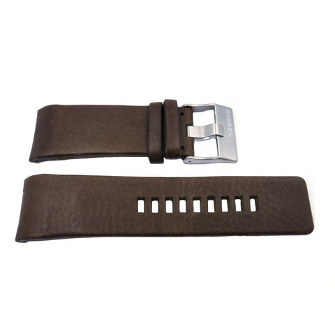 Genuine Diesel Mens Brown Smooth Leather 28mm Watch Band
