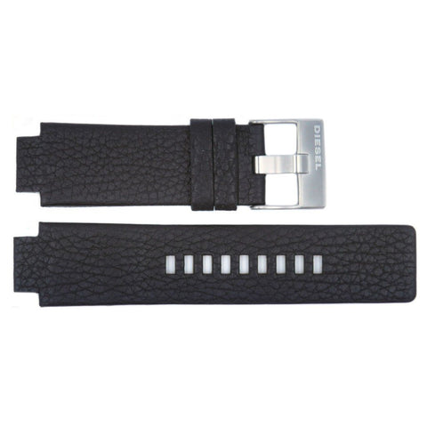 Genuine Diesel Cliffhanger Series Black Textured Leather 26mm/18mm Watch Band