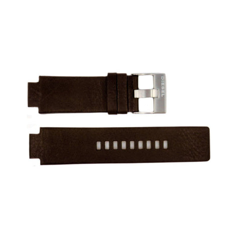 Genuine Diesel Cliffhanger Series Dark Brown Smooth Leather 26mm/18mm Watch Band