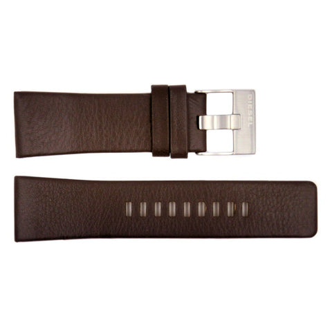 Genuine Diesel Master Chief Series Dark Brown Leather 26mm Watch Band