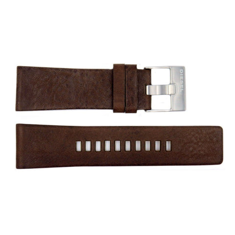 Genuine Diesel Master Chief Series Dark Brown Leather 27mm Watch Band