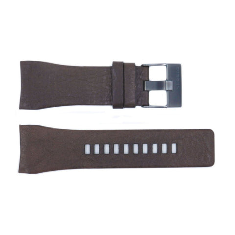 Genuine Diesel Mr.Red Series Brown Textured Leather 30mm Watch Band