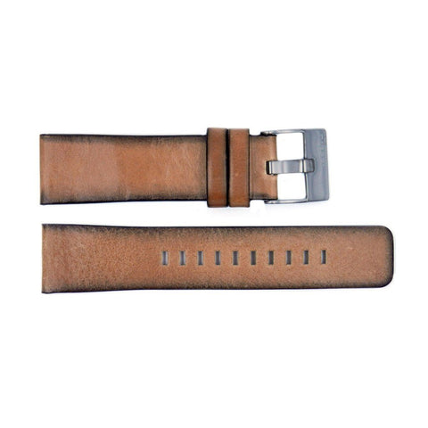 Genuine Diesel Shifter Series Tan Leather 24mm Watch Band