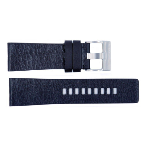 Genuine Diesel Mens Black Textured Leather 27mm Watch Band