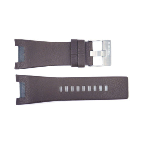 Genuine Diesel Bugout Series Brown Textured Leather 32mm/16mm Watch Band