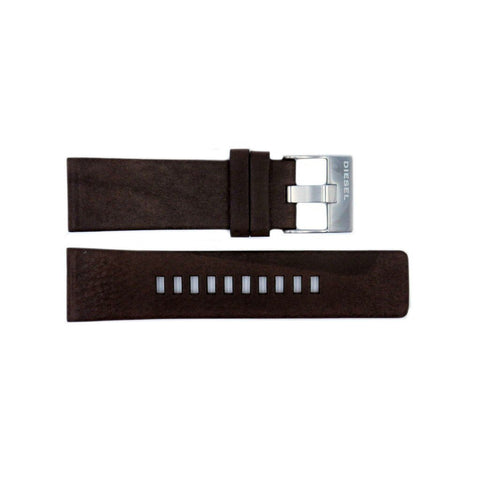 Genuine Diesel Mega Chief Series Dark Brown Leather 26mm Watch Band