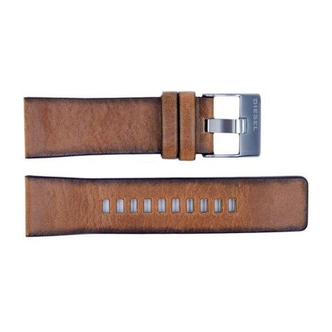 Genuine Diesel Mega Chief Series Tan Leather 26mm Watch Band