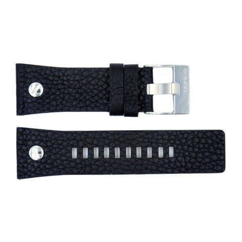 Genuine Diesel Mr. Daddy Series Black Textured Leather 27mm Watch Band
