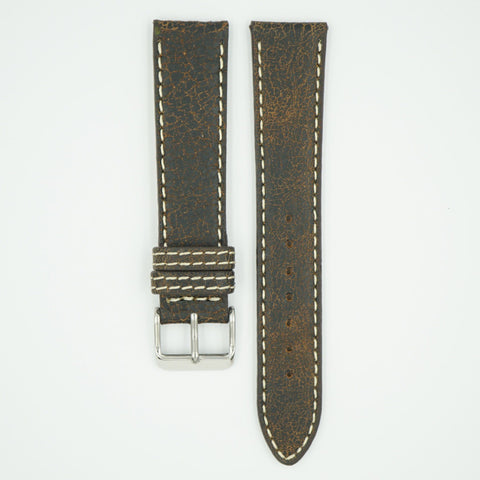 Bomber Brown Faded Leather Watch Band