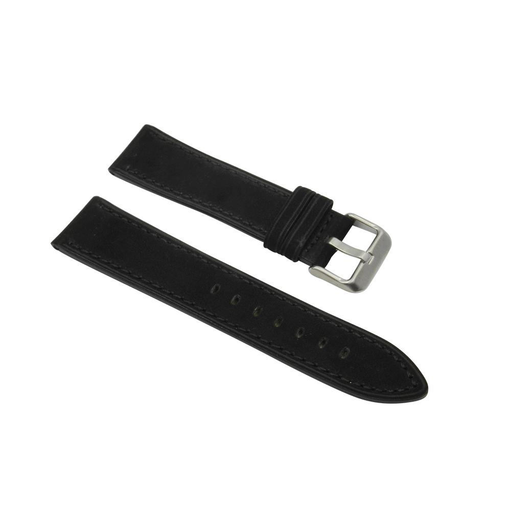 Dakota Black Soft Leather Strap