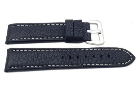 Genuine Leather Sport Textured Heavy Padded Watch Band