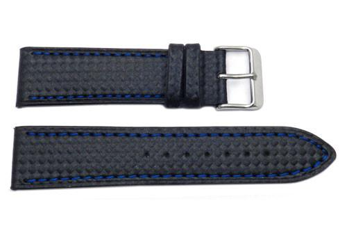 Panerai Carbon Fiber Style Color Contrasting Stitching Watch Band