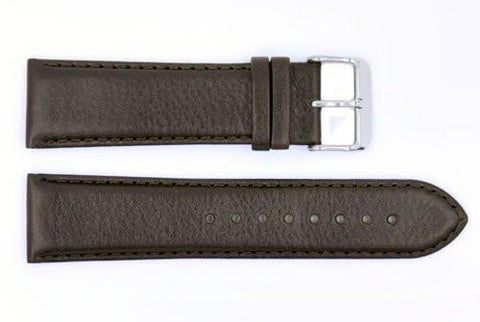 Genuine Movado 24mm Brown Genuine Textured Leather Watch Strap