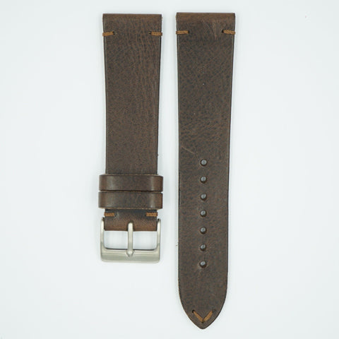 Vintage Vegetable Tanned Brown Leather