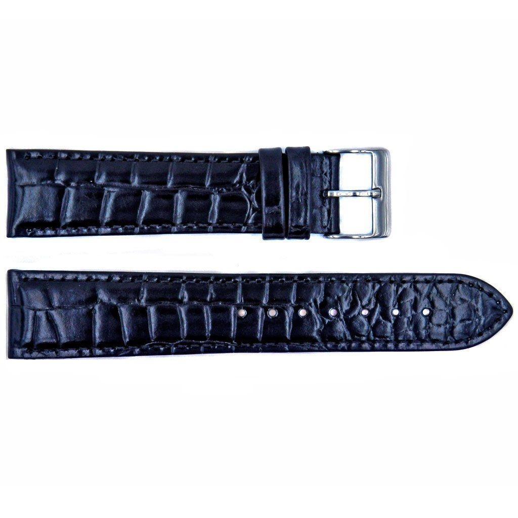 Euro Collection Handmade Alligator Grain Leather Watch Strap