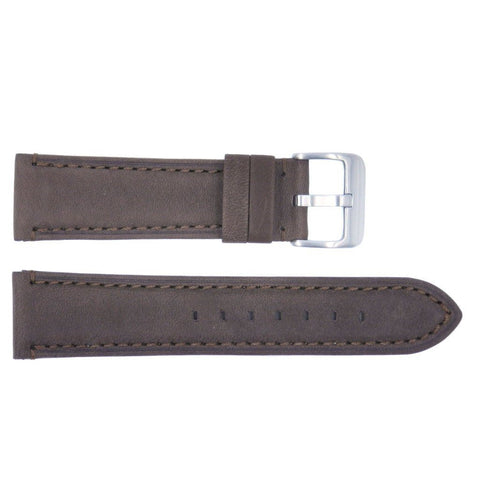 Euro Collection Genuine Italian Brown Waterproof Leather Watch Strap