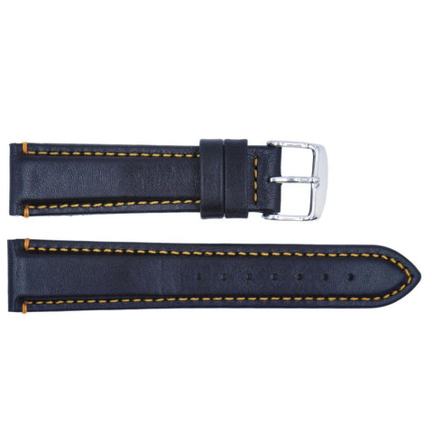 Euro Collection Padded Waterproof Sport Leather Watch Strap
