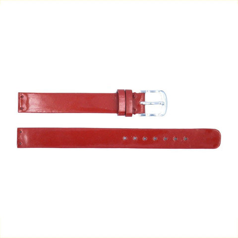 Euro Collection Skagen Style Glossy 12mm Leather Watch Strap