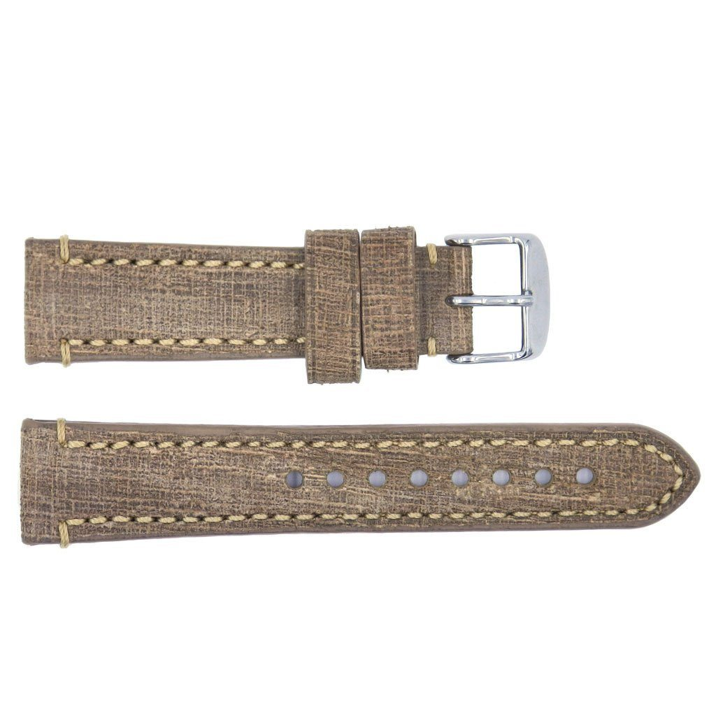 Euro Collection Genuine Vintage Oily Leather Watch Strap
